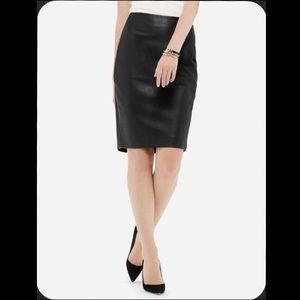 NWT Limited Faux-Leather Pencil Skirt